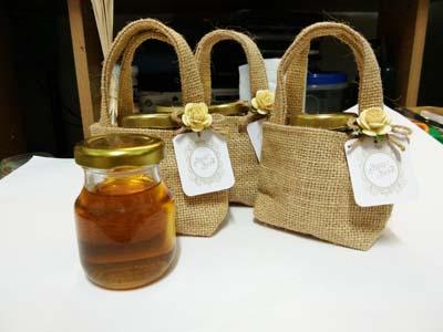 น้ำผึ้ง+ถุงผ้ากระสอบ