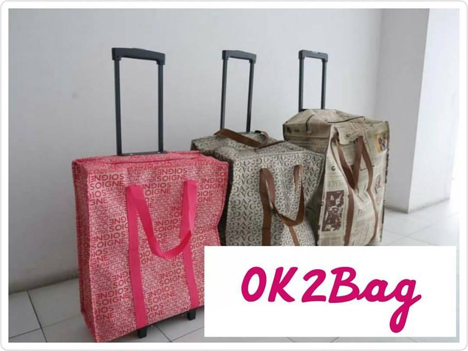 กระเป๋าล้อลาก Size L สินค้างานไทย สวย หนา แข็งแรง คันชักสีดำ ถุงผ้าเป็นพลาสติกของดิสนีย์มิกกี้เม้าส์