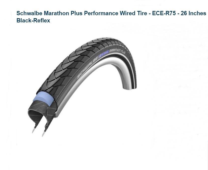 ยางนอกทัวร์ริ่ง Schwalbe Marathon Plus - 26 x 2.0 ระดับ 7