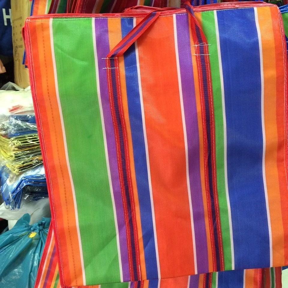 ถุงกระเป๋ากระสอบไนลอน 2 ชั้น L ขนาด 65*60*38 cm. ราคาส่ง 170 บาท
