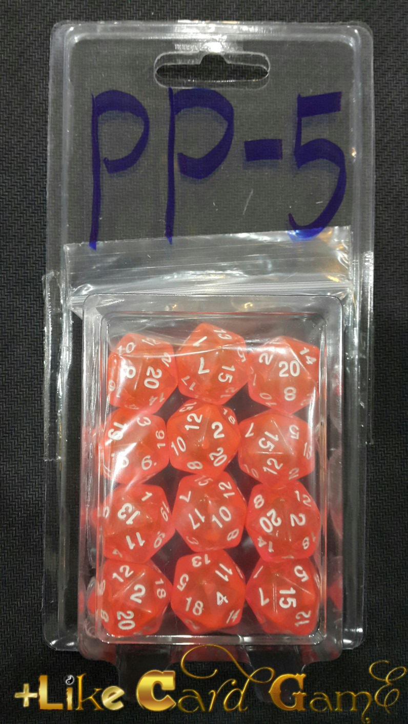 ลูกเต๋า 20 หน้า 3 ลูก (สีฟ้าใส) PP-5