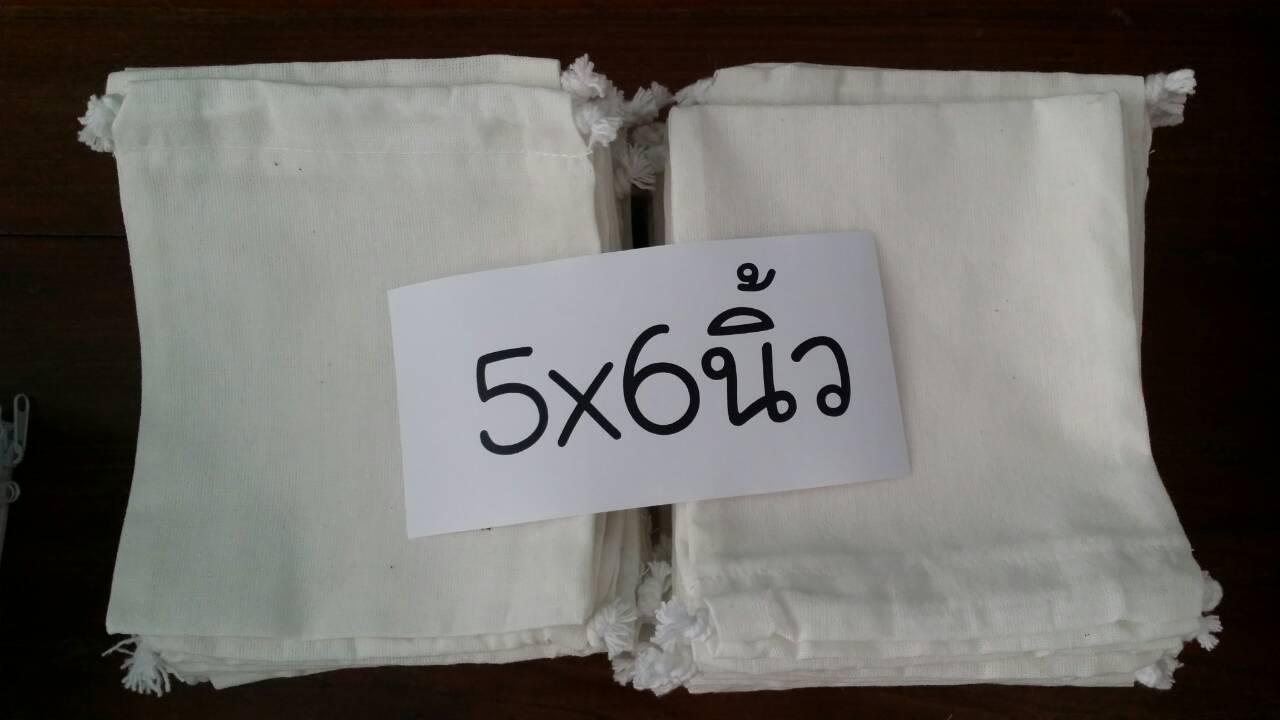 กระเป๋าผ้า5x6 แพค30ใบ