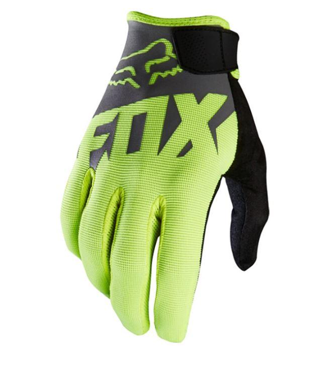 ถุงมือเต็มนิ้ว FOX สีเทา-เขียว