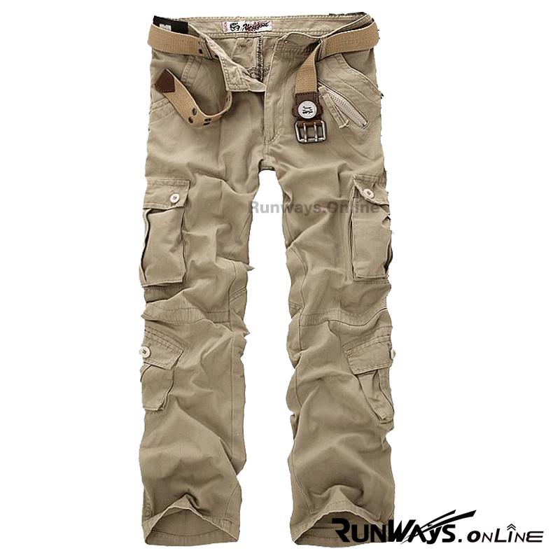 กางเกงคาร์โก้ Cargo Pants - สีกากี