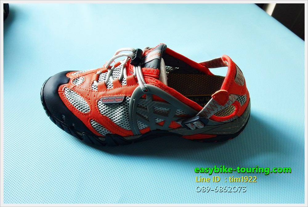 รองเท้า Easybike CFL / สืดำ-เทา แถบสีส้ม จะลุยน้ำจะปั่น ปีนเขา