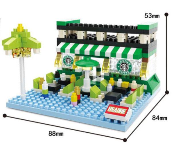 มินิโมเดลร้านกาแฟ 349 ชิ้น No.8519