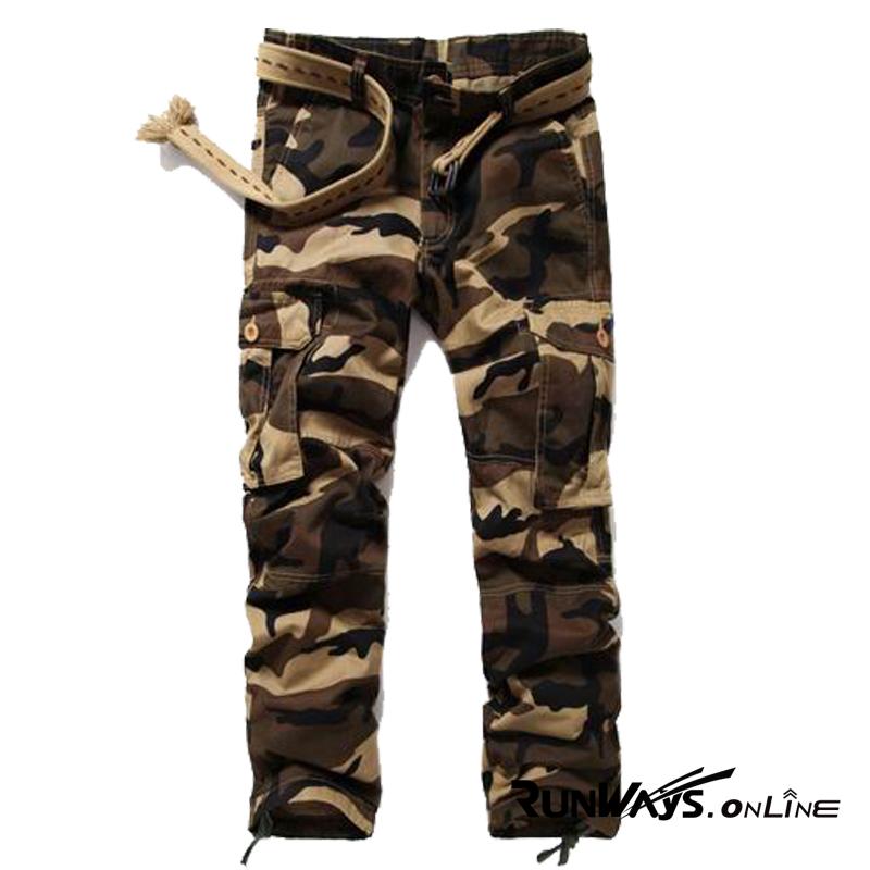 กางเกงคาร์โก้ Cargo Pants - ลายพรางน้ำตาล CP3