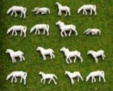 ม้าจิ๋ว (สเกล 1:150) คละแบบ 50 ตัว สีขาว (Everest)