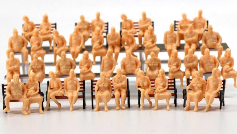 คนนั่ง สเกล 1:48 คละแบบ 24 ตัว (ไม่เพ้นท์สี)