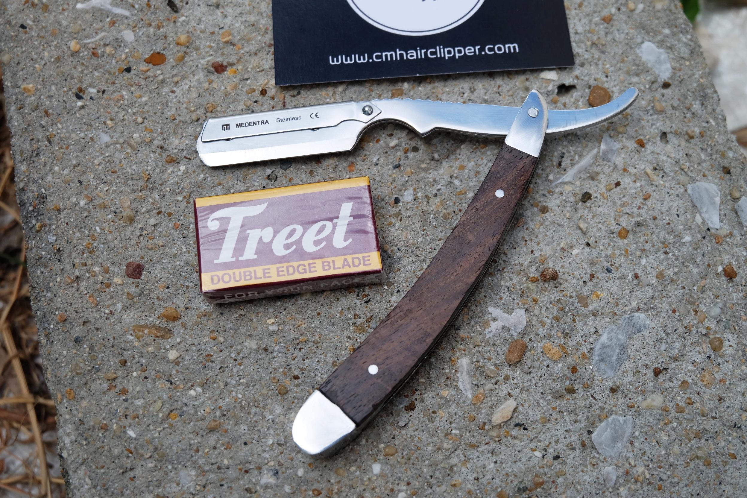 มีดโกนอังกฤษ UK Medentra Solid Wood Heavy