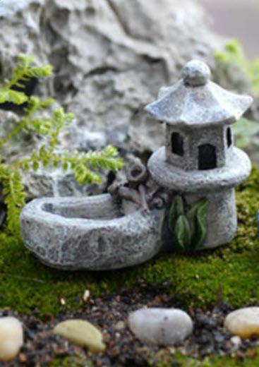 อ่างน้ำสวนญี่ปุ่น สีเทา