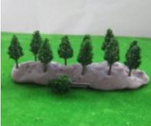 ต้นไม้จิ๋ว (N Z scale) ขนาด 3.8 ซ.ม. 50 ต้น