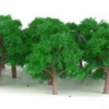 ต้นไม้ สเกล1:300 สีเขียวหยก 25 ต้น 4 ซ.ม.