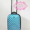 กระเป๋าเดินทาง 2 ล้อลาก สีฟ้าลายจุด 16 นิ้ว