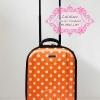 กระเป๋าเดินทางแบบผ้า 16 นิ้ว สีส้มลายจุดสีส้ม
