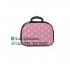 กระเป๋าเดินทางใบเล็ก ไซส์ 12 นิ้ว สีชมพูลายจุด