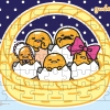 จิ๊กซอว์ 54ชิ้น แบบแผ่นพร้อมถาดรอง ซานริโอ้ กูเดทามะ ไข่ขี้เกียจ Jigsaw Puzzle Sanrio Gudetama