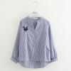 เสื้อเบลาส์ปักแต่งลาย (มีให้เลือก 2 สี)