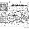 ภาพระบายสี จิ๊กซอว์แบบแผ่น มีถาดรอง 54 ชิ้น พร้อมถาดรอง Sanrio ซานริโอ้ Little Twin Stars ลิตเติล ทวิน สตาร์