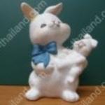 กระต่ายเซอรามิค แม่-ลูก