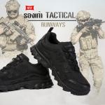 รองเท้า TACTICAL รองเท้าเดินป่า Runway No.3 สีดำ