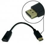 ตัวแปลงสัญญาณ HDMI ตัวเมีย ไป Display Port ตัวผู้