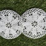 ที่รองแก้ว รองแจกัน ประดับโครเชต์ Crochet S6 White