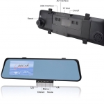 กระจกพร้อมกล้องบันทึกรถยนต์ หน้า-หลัง ยี่ห้อ D-Car HD- DVR-430 พร้อมส่ง