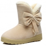 (Pre Order) บูทฤดูหนาวสไตล์เกาหลีสลิปทนทาน รองเท้าผ้าฝ้ายบูตหิมะ มี 4 สี ครีม,น้ำตาลอ่อน,น้ำตาลเข้ม,ดำ ไซส์ 37,38,39,40
