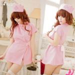 ชุดพยาบาลสาวหวาน สีชมพู