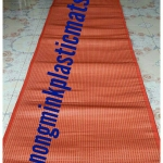 เสื่อพลาสติกถวายวัด แดงล้วน (เกรดAแบบเรียบ) ขนาดกว้าง 180 cm.xยาว 10เมตร (2พับ)