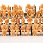 คนนั่ง สเกล 1:48 คละแบบ 64 ตัว (ไม่เพ้นท์สี)