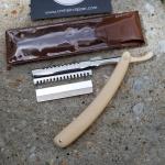 มีดโกนพับด้ามพลาสติก 2in1 Vintage Razor Brown