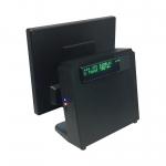 """คอมพิวเตอร์ระบบสัมผัส 15 นิ้ว Medium Duty สีดำ + จอแสดงราคาลูกค้าภายใน รุ่น IN-15CD (All in One Touchscreen POS 15"""")"""