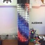 ไฟหมุน บาร์เบอร์ LED 3LED#05 ขนาด 60 cm. (กันน้ำ/ปรับไฟได้)