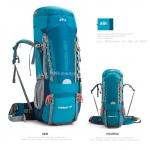 เป้ Backpack 70+5L สีฟ้า