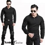 ชุดทหารคอมแบท ดำ : Combat Suit Black