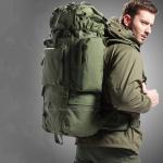 เป้ Backpack 65 ลิตร - สีเขียว
