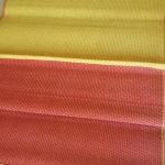 เสื่อพลาสติกเหลืองแดง ถวายวัด ขนาดกว้าง 90 cm.x ยาว 8 m.