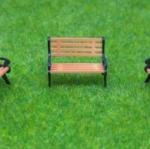 ม้านั่งยาว สเกล 1:150 ชุด 5 ตัว