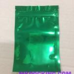 ถุงฟอยด์สีเขียวเงา ทึบ 2 ด้าน ซิปล็อค ตั้งไม่ได้