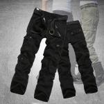 กางเกงคาร์โก้ Cargo Pants - สีดำ