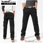 กางเกงคาร์โก้ Cargo Pants RW02 - สีดำ