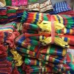 กระสอบใส่ของสีสันสวยงาม RAINBOW BAG ถุงกระสอบสายรุ้ง ขนาดใหญ่จัมโบ้ ราคาส่ง 12 ใบ