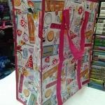 กระเป๋าการ์ตูน ทรงสูง ขนาด 50*45*19 cm. ราคาส่ง 55 บาท (1โหล)