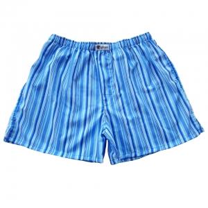กางเกงบ๊อกเซอร์ผู้ชายสีน้ำเงินลายทาง