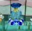 ขวดแก้วสำหรับใส่น้ำมันกฤษณาขนาด 6ml. แท่งแก้วฝาน้ำเงิน พร้อมกล่องกระดาษสวย