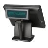 """คอมพิวเตอร์ระบบสัมผัส 15 นิ้ว Heavy Duty สีดำ + จอแสดงราคาสินค้า รุ่น IN-15BD (All in One Touchscreen POS 15"""")"""