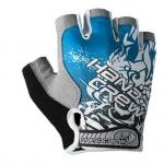 ถุงมือครึ่งนิ้ว HANDCREW สีฟ้า