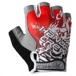 ถุงมือครึ่งนิ้ว HANDCREW สีแดง